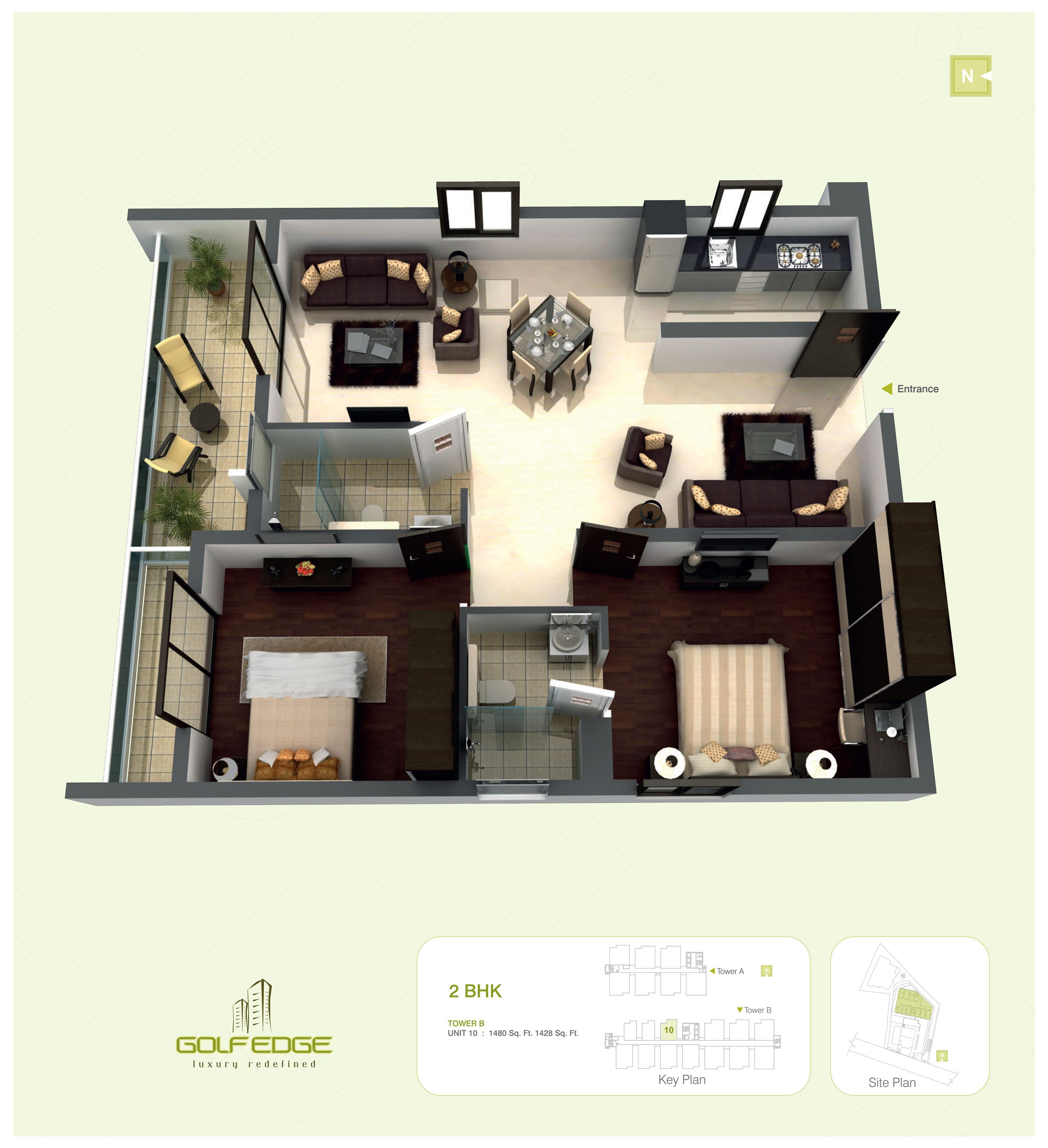 golf edge floor plans premium 2 amp 3 bhk apartments floorplan tivona city